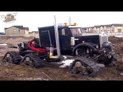 RC ADVENTURES - SNOW PLOW - JUGGERNAUT (V-PLOW PRACTiCE) Custom Radio Control 6x6 Truck (Electric)