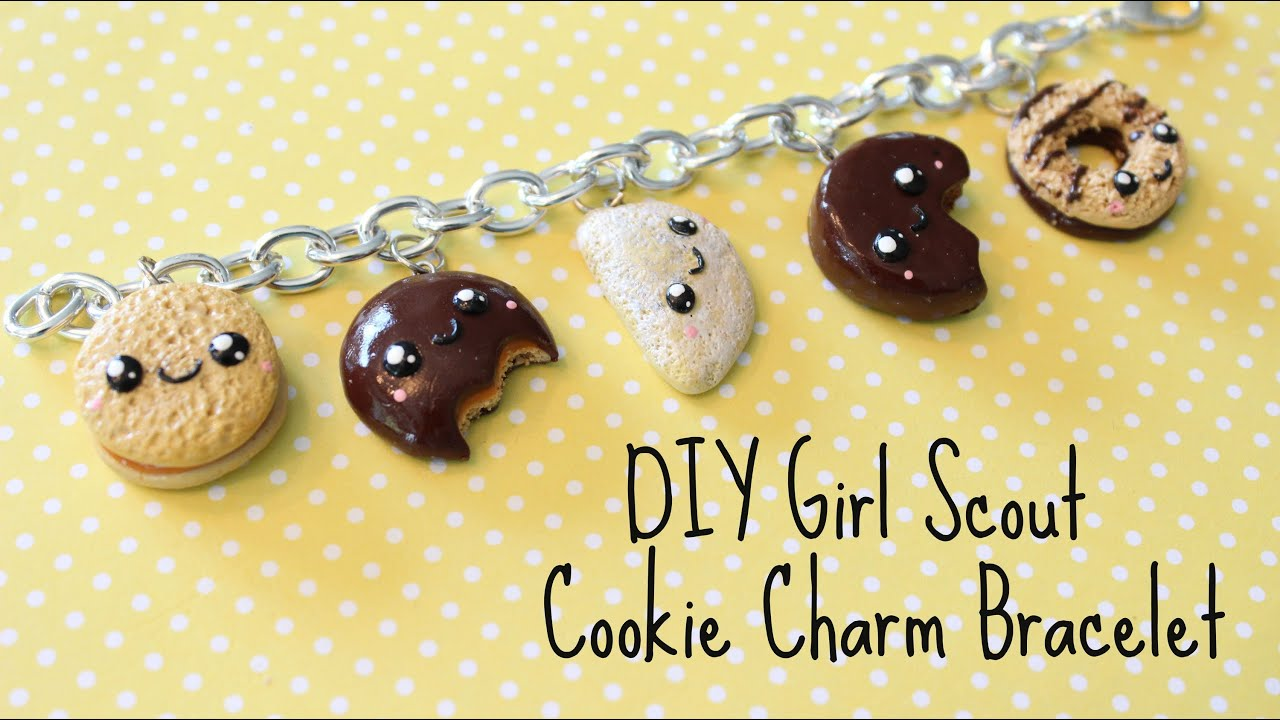 diy polymer clay girl scout cookie charm bracelet   youtube