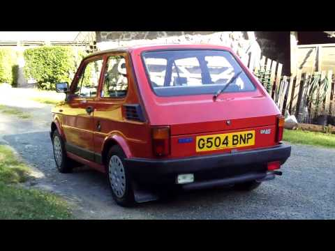 Fiat 126 BIS interior, exterior, start up & driving!