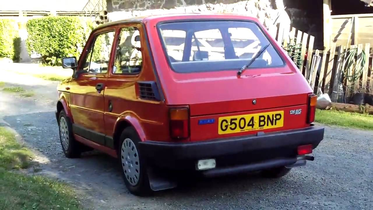 Fiat 126 Bis Interior Exterior Start Up Amp Driving Youtube