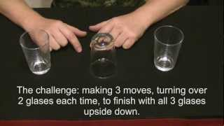 How to do magic. Simple magic trick with glasses. Magic Tric