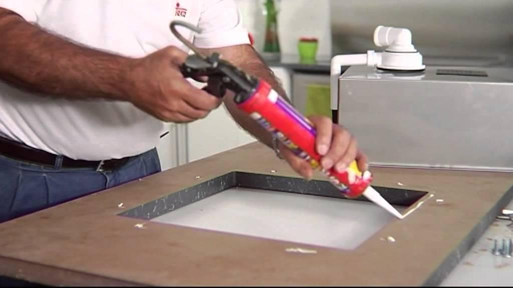 02 instalaci n fregadero bajo tope youtube for Como hacer una pileta de fibra