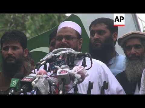 Lashkar-e-Taiba protest over border tensions in India