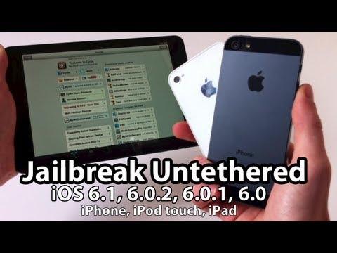 Evasi0n - Untethered Jailbreak iOS 6.1. 6.0.1. 6.0 iPhone 5. 4S. 4. 3GS. iPad Mini. iPod touch 4/5