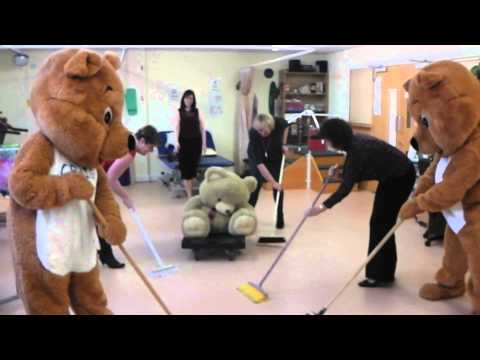Bear Curling at Hospice Isle of Man