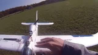 Beta 1400 test letu v silném větru se stabilizací FrSky S6R přijímač