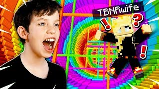 My Little Brother Pranks Me in Minecraft Rainbow Dropper