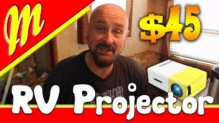 Review and unboxing , $45 Projector, for RV life, Deeplee A1 LED LCD Mini Portable LED Projector