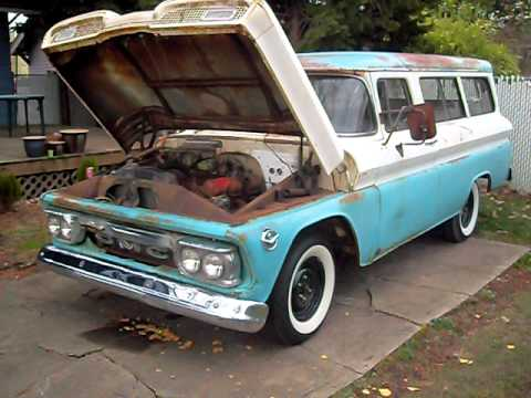 1963 Chevy Truck For Sale 1960 GMC Suburban, 305 V6 - YouTube