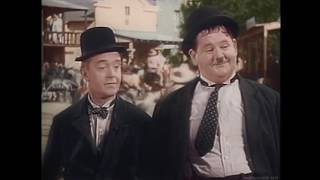 Laurel and Hardy dance to the Bee Gees Night Fever  Full Version