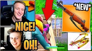 Streamers First Time Using *NEW* Infantry Rifle & *UNVAULTED* Crossbow! - Fortnite Moments