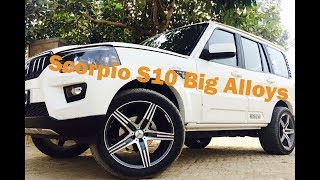 scorpio s10 big alloys wheel's