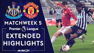 Newcastle v. Manchester United | PREMIER LEAGUE HIGHLIGHTS | 10/17/2020 | NBC Sports