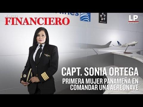 Sonia Ortega, la primera panameña en comandar una aeronave