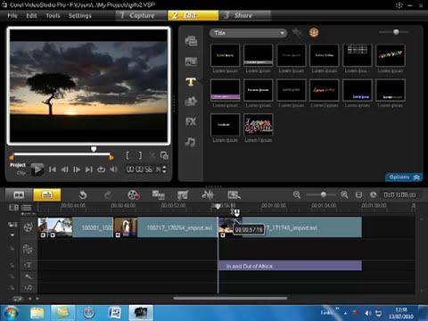 Corel VideoStudio Pro X3 part 2