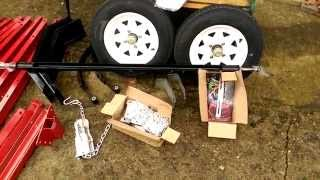Harbor freight  trailer parts spread