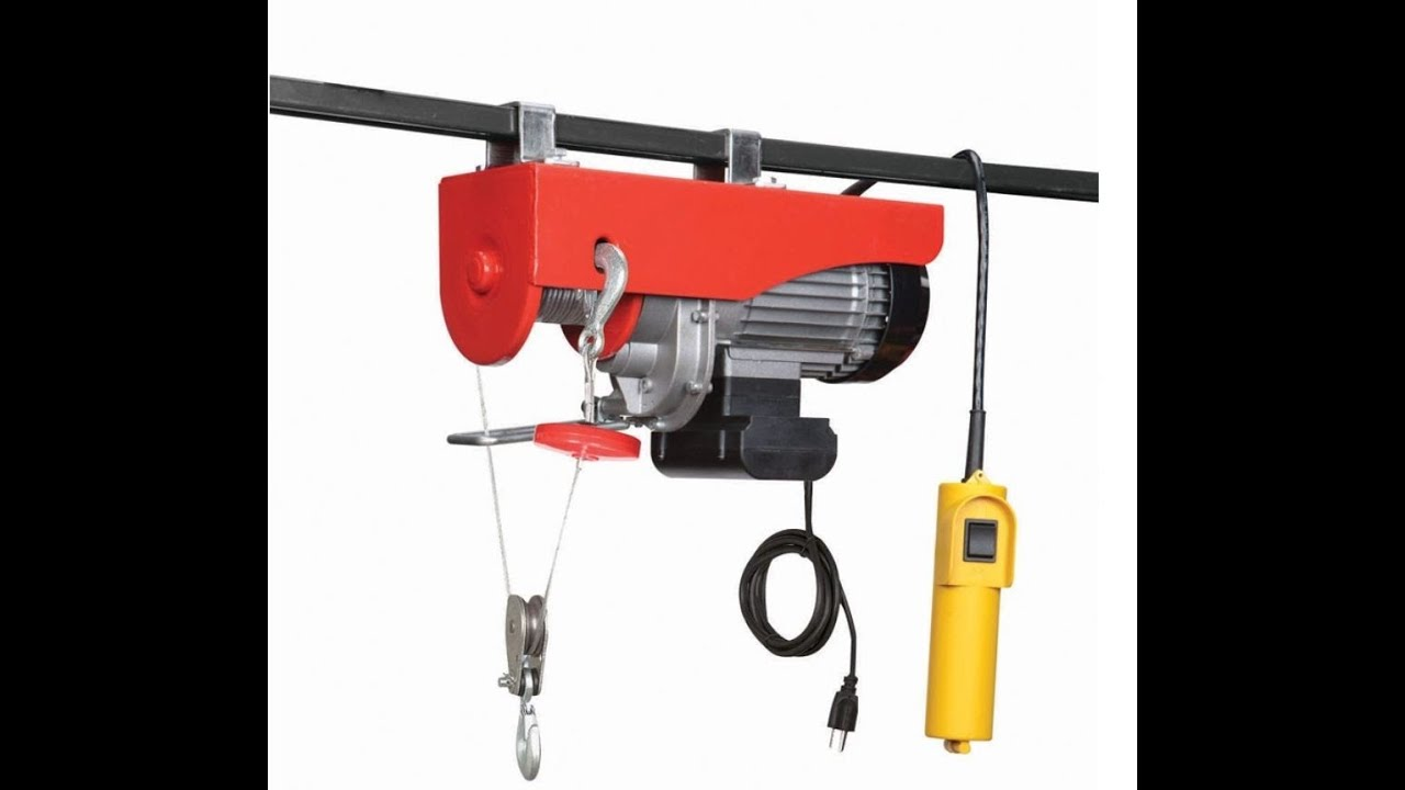 880 Lb Electric Cable Hoist Amp Newair G56 Heater Youtube