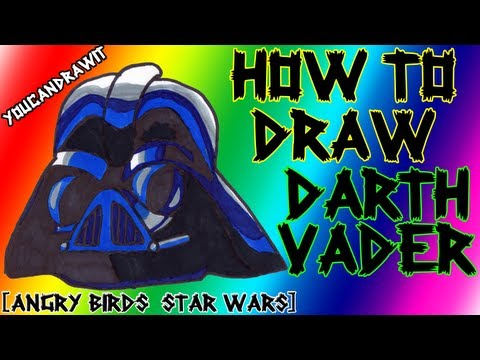 How To Draw Darth Vader Pig from Angry Birds Star Wars ✎ YouCanDrawIt ツ