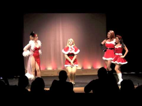 The Caburlesque Kittens perform Santa Baby