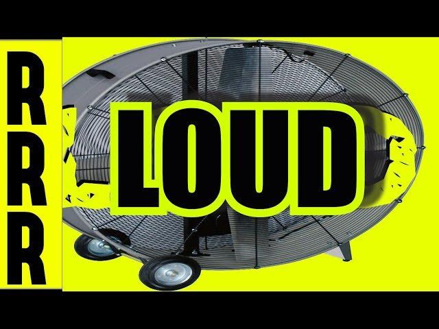 LARGE LOUD FAN for SLEEP ~ 8 Hours ! White Noise ~ Black SCREEN