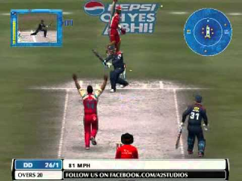 Ipl 2014: Delhi Daredevils Vs Royal Challengers Bangalore Highlights Game (ea Cricket 07) video