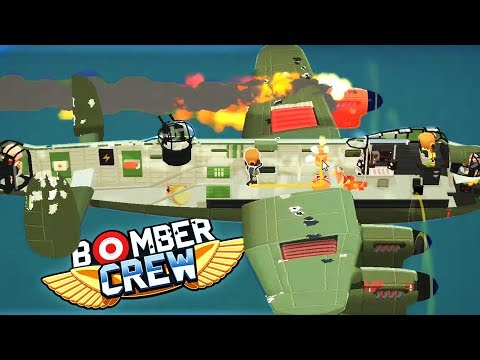 AIRPLANE ENGINE ON FIRE!! - Bomber Crew Gameplay!