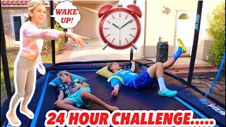 24 HOUR CHALLENGE ON THE TRAMPOLINE WITH GAVIN MAGNUS AND COCO QUINN! *HIS CRUSH*