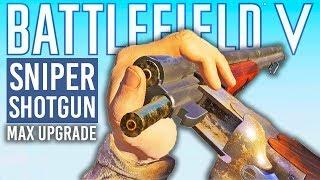 FULLY UPGRADED DRILLING Battlefield 5 Shotgun Sniper Gameplay