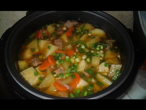Рецепт говядины с картошкой мультиварке фото