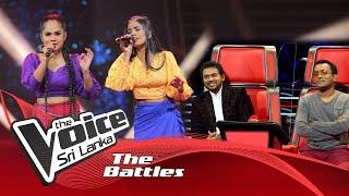 The Battles :Hemansa Anandi V Dulakshmi Shashikala  Parata Kittuwa The Voice Sri Lanka