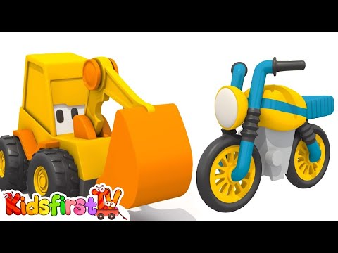 Children's Cartoons - Make a MOTOR BIKE with Excavator Max!