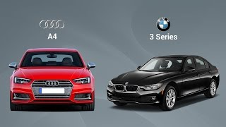 BMW 3-Series vs Audi A4 Test Drive Comparison Review - Autoportal