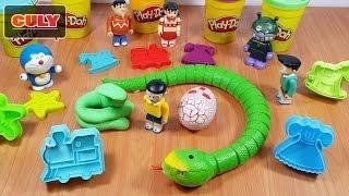 đồ chơi Doremon  - Nobita và con rắn khổng lồ cuộc thi nặn đất sét PlayDoh