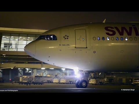 Swiss Airbus 330-343 at Delhi Airport