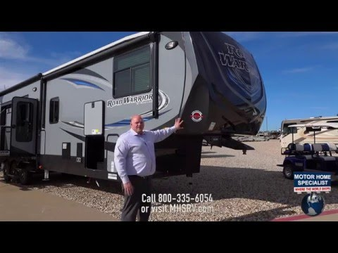 Road Warrior 427 Luxury Toy Hauler RV Review at Motor Home Specialist