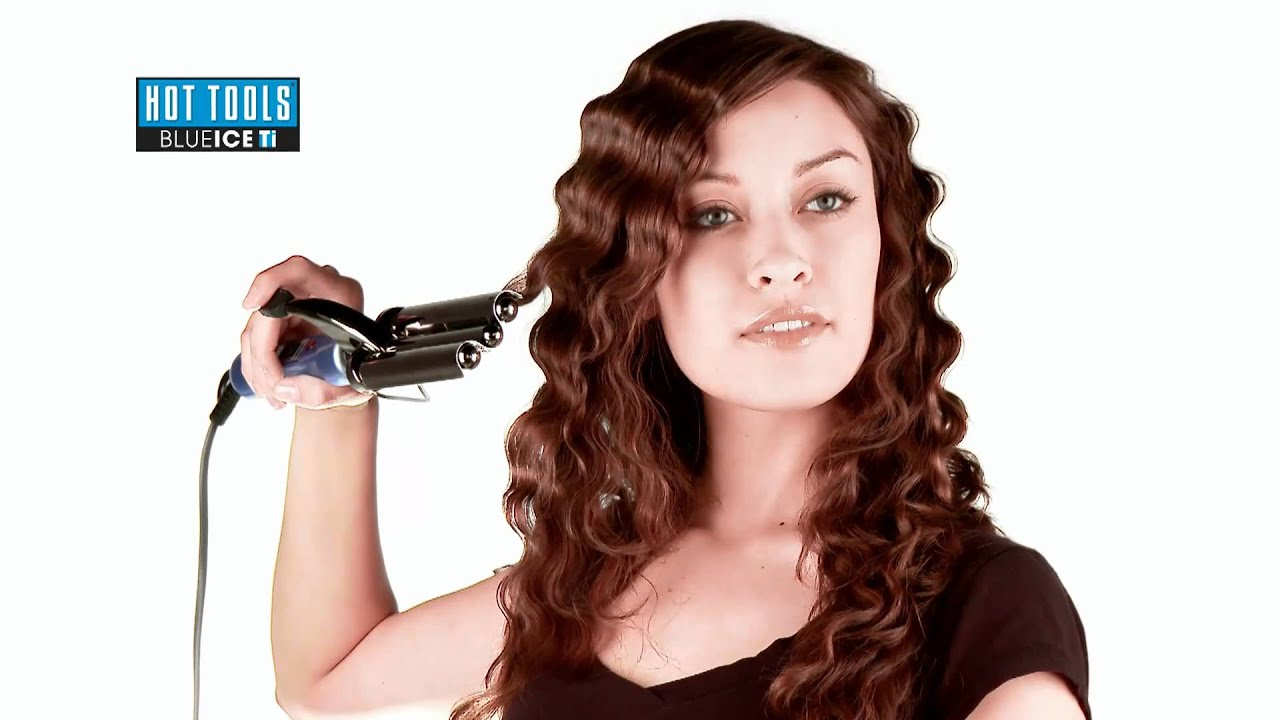 Hot Tools 3 Barrel Waver - YouTube