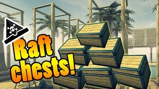 RAFT CHESTS! - Raft gameplay - Raft Update! #funny