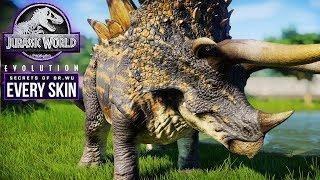 STEGOCERATOPS | Every Skin, Kill Animation, Discussion (Jurassic World: Evolution New Dinosaur)