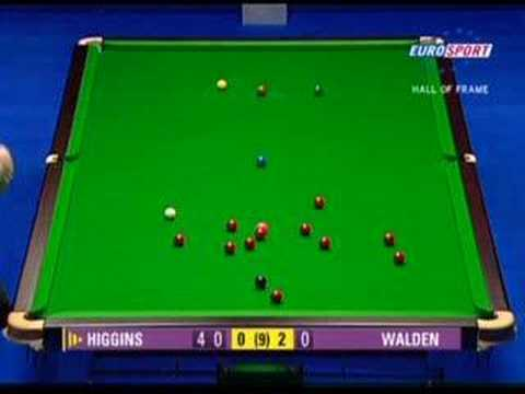 john higgins cue. snooker-John Higgins 147 part