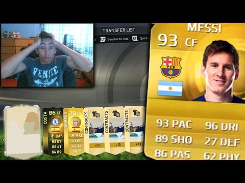 FIFA 15 | MY MESSI ARRIVED! - PACK OPENING - AMAZING BARCA PACK OPENING!! - (FIFA 15 Ultimate Team)
