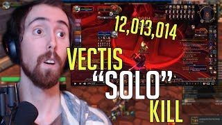 """Asmongold Reacts To """"Solo Vectis [0.5 Second Speed kill] [WORLD RECORD]"""" By Rextroy"""