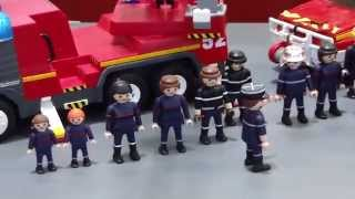 Playmobil Pompiers Feuerwehr Fireman Fire rescue EXPOSITION