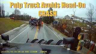 Pulp Truck Avoids Head-On CRASH