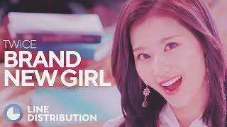 TWICE - Brand New Girl (Line Distribution)