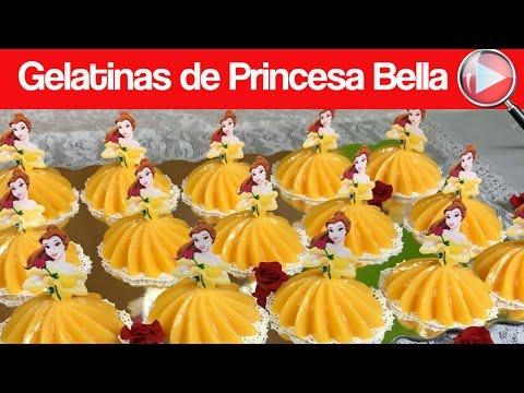 Gelatinas de Princesa Bella Individuales - Para las Niñas - Recetas en Casayfamiliatv