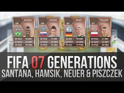 FIFA 07 Generations   Neuer. Hamšik. Felipe Santana and Piszczek