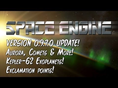 Space Engine - 0.9.7.0 Update: Comets, Auroras and New Earth-sized Kepler Planets