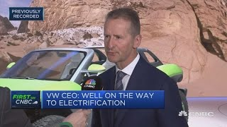Volkswagen CEO: Brexit 'won't sink our company' | Squawk Box Europe