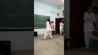 Indian school girl in class dance