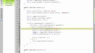 zend framework tutorial
